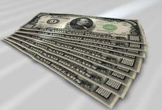 Banconote in dollari Immagini Stock