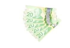 Banconote in dollari #3 del canadese venti Fotografie Stock
