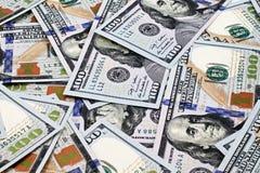 2013 banconote in dollari degli Stati Uniti cento Fotografia Stock Libera da Diritti
