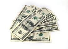 Banconote in dollari degli Stati Uniti cento Fotografia Stock