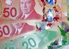 Banconote in dollari del canadese 50 Fotografie Stock Libere da Diritti
