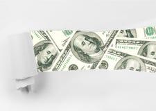 Banconote in dollari dell'americano cento Fotografia Stock