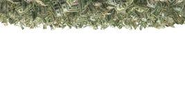 100 banconote in dollari sulla terra Fotografia Stock