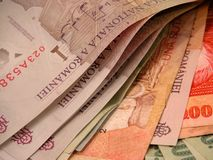 Banconote e fatture Fotografia Stock Libera da Diritti