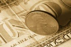 Banconote e moneta Fotografie Stock Libere da Diritti