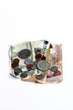 Banconote e moneta Immagine Stock Libera da Diritti