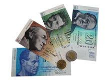 Banconote e monete della foto 1 della Finlandia Immagini Stock