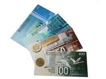 Banconote e monete della foto 2 della Finlandia Fotografia Stock