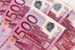 Banconote europee dall'euro 500 Fotografie Stock Libere da Diritti