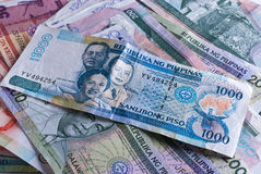 Banconote filippine Fotografie Stock