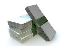 Banconote generiche della pila Fotografie Stock Libere da Diritti
