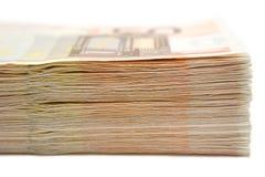 Banconote impilate Fotografia Stock Libera da Diritti