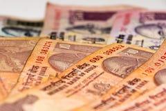 Banconote indiane della rupia di valuta Fotografia Stock Libera da Diritti