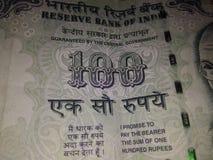Banconote indiane di valuta Fotografie Stock Libere da Diritti