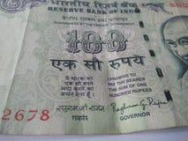 Banconote indiane di valuta Immagine Stock Libera da Diritti
