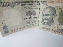 Banconote indiane di valuta Immagine Stock
