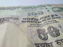 Banconote indiane di valuta Fotografia Stock Libera da Diritti
