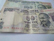 Banconote indiane di valuta Immagini Stock Libere da Diritti