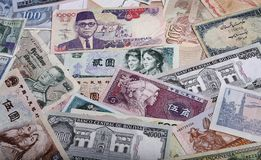 Banconote internazionali Fotografia Stock Libera da Diritti