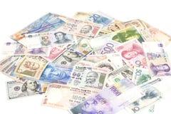 Banconote internazionali di valute Fotografie Stock Libere da Diritti