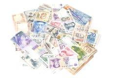 Banconote internazionali di valute Fotografia Stock Libera da Diritti