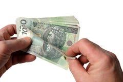 Banconote isolate su bianco Fotografia Stock Libera da Diritti