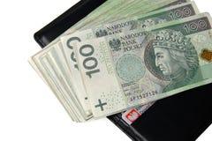 Banconote isolate su bianco Fotografia Stock
