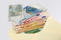 Banconote nella copertura Fotografia Stock Libera da Diritti