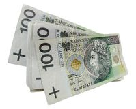 Banconote polacche Immagini Stock Libere da Diritti