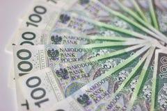 Banconote polacche Zloty polacca PLN Fotografia Stock