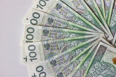 Banconote polacche Zloty polacca PLN Immagine Stock Libera da Diritti