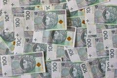 Banconote polacche Zloty polacca PLN Immagini Stock