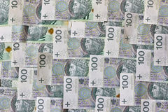 Banconote polacche Zloty polacca PLN Fotografie Stock Libere da Diritti