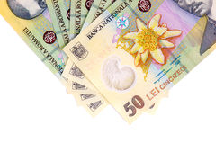 Banconote rumene Immagine Stock Libera da Diritti
