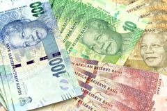 Banconote sudafricane e nuove Fotografia Stock Libera da Diritti