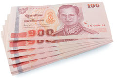 Banconote tailandesi Fotografie Stock
