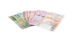 Banconote tailandesi immagine stock