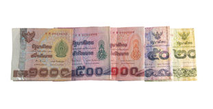 Banconote tailandesi Immagini Stock