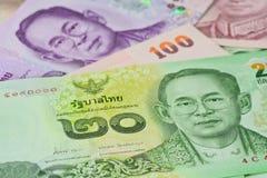 Banconote tailandesi (baht) per soldi ed i concetti di affari Immagine Stock Libera da Diritti