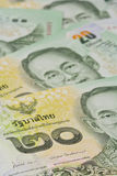 Banconote tailandesi (baht) per soldi ed i concetti di affari Fotografia Stock Libera da Diritti