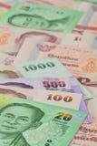 Banconote tailandesi (baht) per soldi ed i concetti di affari Fotografia Stock