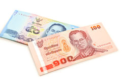 Banconote Tailandia Fotografia Stock Libera da Diritti
