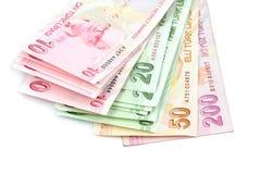 Banconote turche Lira turca (TL) Fotografia Stock