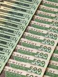 Banconote ucraine ed americane Fotografia Stock Libera da Diritti