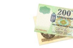 Banconote ungheresi della forint a partire dai periodi differenti immagini stock