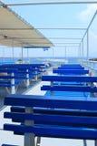 Bancos azules Imagen de archivo