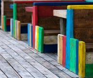 Bancos coloridos Foto de archivo