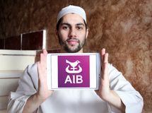 Bancos de Allied Irish, logotipo de AIB imagens de stock