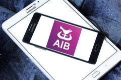 Bancos de Allied Irish, logotipo de AIB imagem de stock