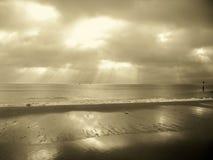 Bancos de arena Dorset en sepia Foto de archivo libre de regalías